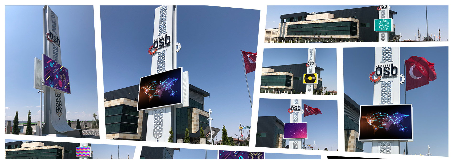 Kayseri Industrial Zone Outdoor Led Screen Project