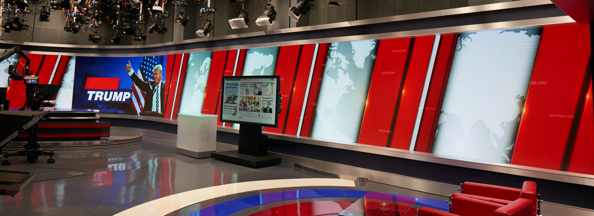 TRT Broadcasting Studio LED-Display