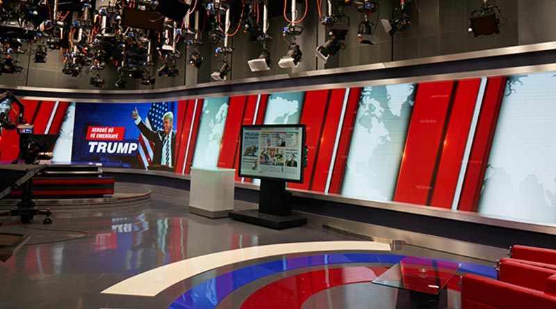 TRT Broadcast Studio LED Screen