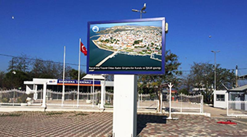 Bandırma Chamber of Industry and Commerce Outdoor Led Screen Project