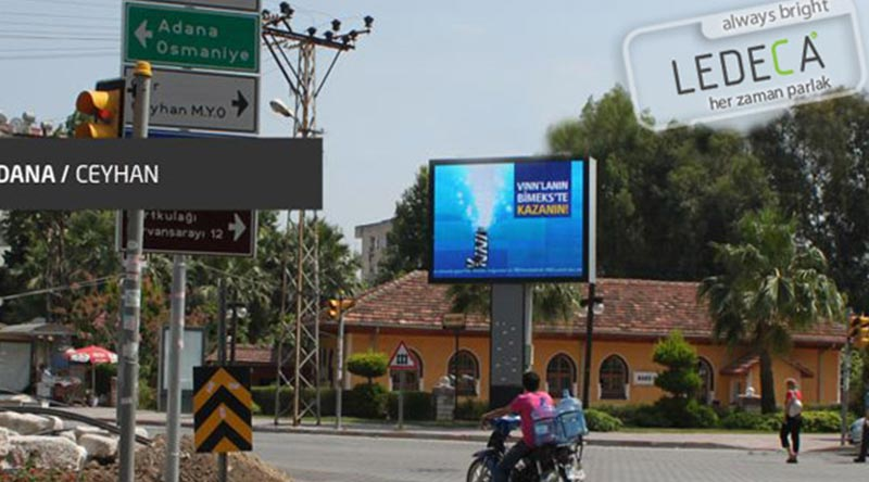 Adana Ceyhan  OOH Led Screen Project