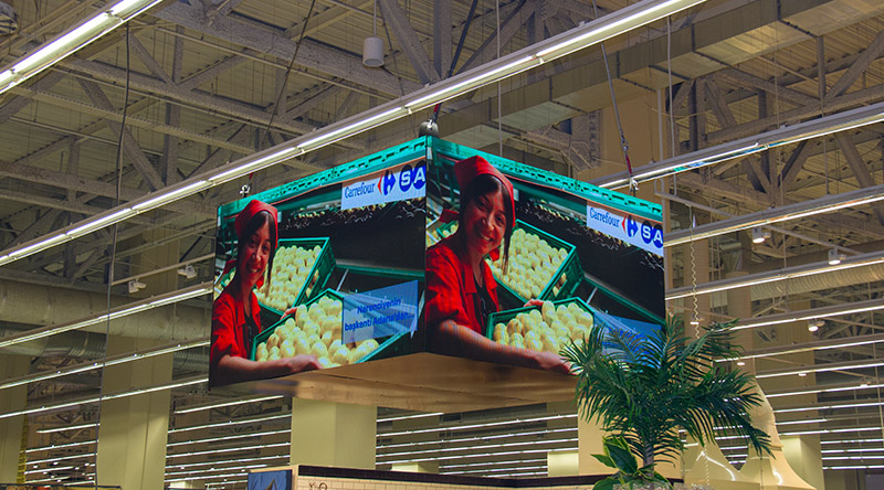 Forum Istanbul Carrefour Indoor Circle LED Screen Project