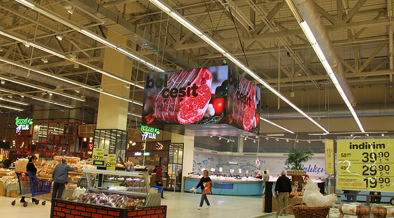 Forum İstanbul Carefour Cubic Led Screen Project