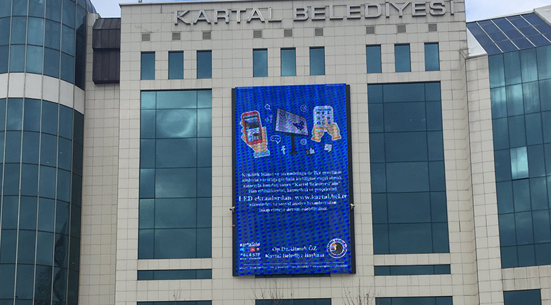 Kartal Municipality Facade Mesh Led Screen