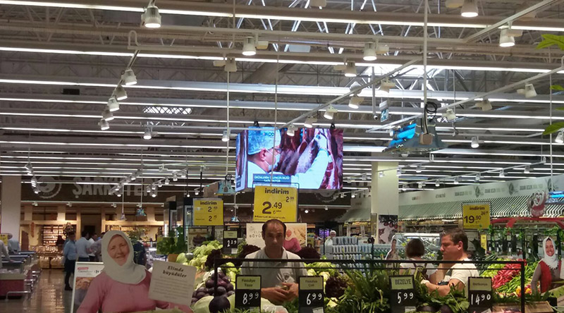 Carrefour Cube Led Screen