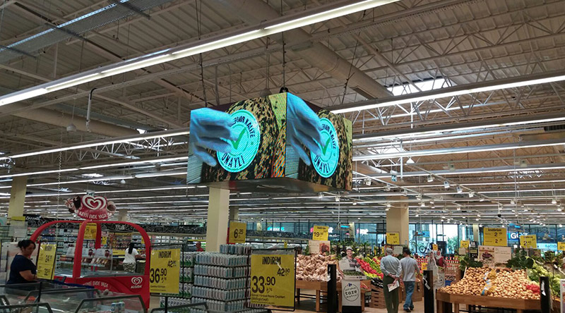İzmir Balçova Carefour Cubic Led Screen Project