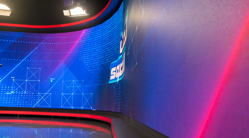 TRT El-Arabiya Broadcasting Curved Led Screen Project 1