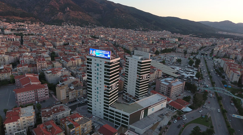 Maski Tower Rooftop Led Screen