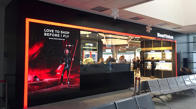 Cluj-Napoca International Airport Led Screen Project