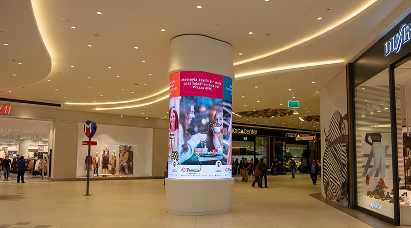 Piazza Mall Cylinder Led Screen Project