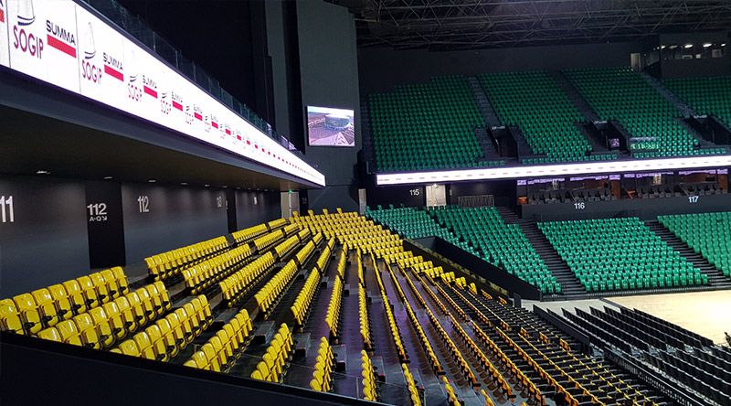 Dakar Arena Senegal Ribbon Led Screen Project