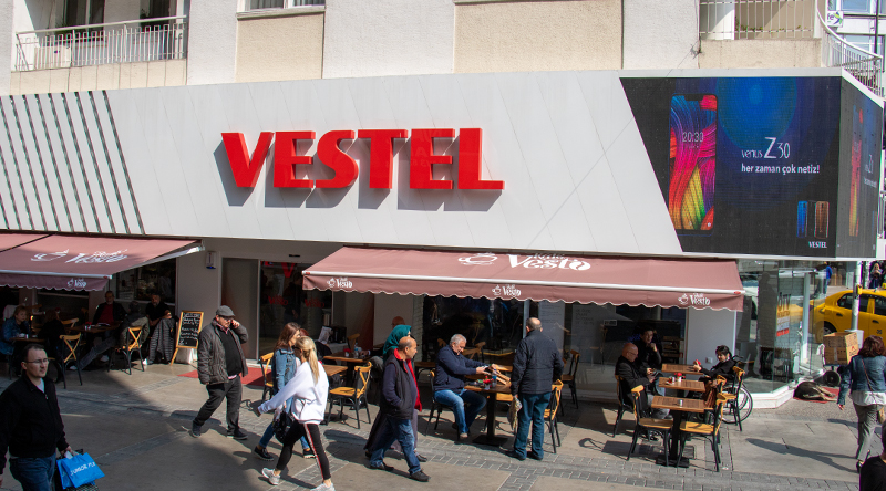 Vestel Shop Corner Signage Led Screen