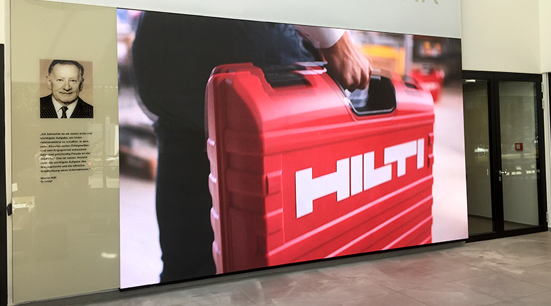 Hilti HQ Lobby Led Screen
