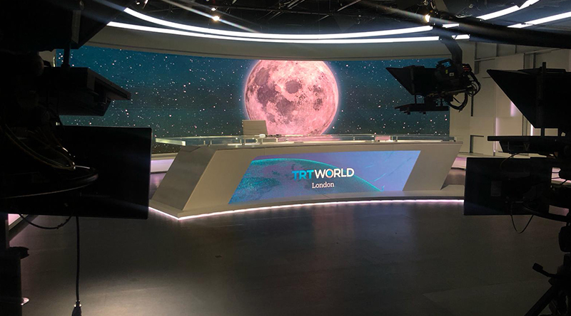 TRT World Broadcast Studio Led Screen