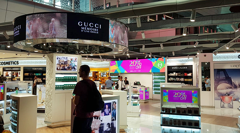 Hamad International Airport Duty Free Led Screen