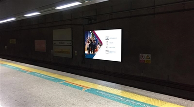 Ministry of Transport Marmaray Tube Tunnel LED Screen 1 Sirkeci / İstanbul