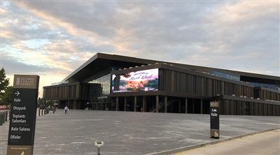 Konya Congress Center Facade Transparent Led Screen