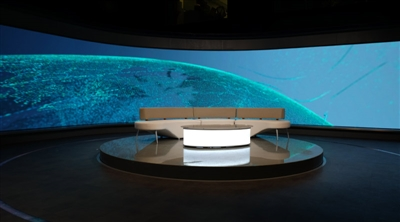 TRT El-Arabia Broadcast Studio Projekt für gebogene LED-Displays 2