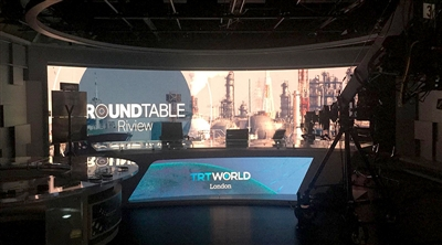 TRT World Studio Broadcasting Led Screen Project
