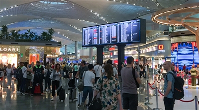 Istanbul Airport Departures FIDS Led Screen