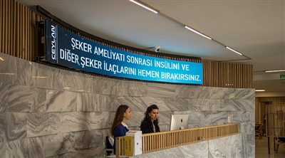 Ceylan Hospital Curved Led Screen